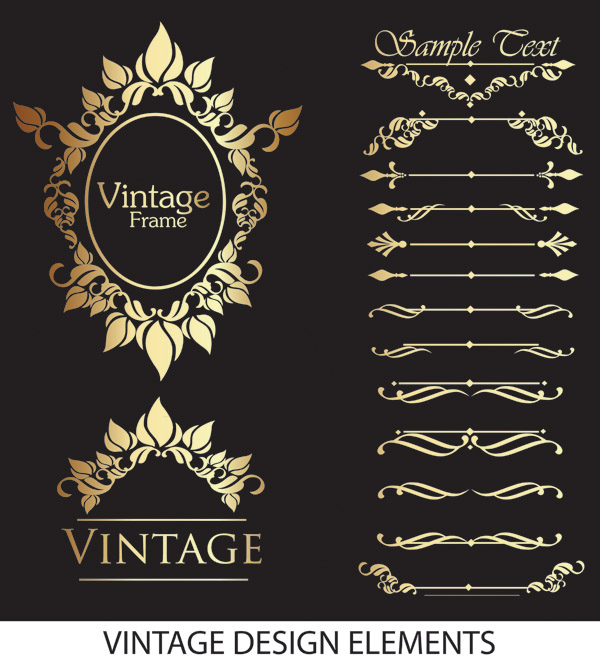 free vector Gorgeous lace pattern vector