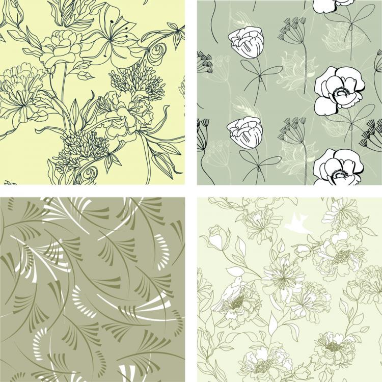 free vector Gorgeous line of draft pattern vector