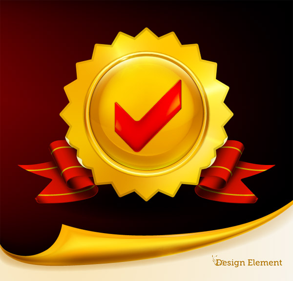 free vector Gorgeous medal vector