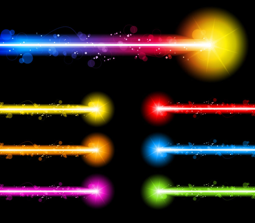 free vector Gorgeous neon effects 01 vector