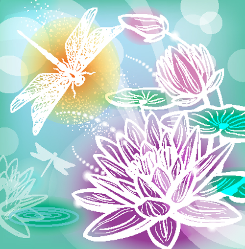 free vector Gorgeous pattern background 04 vector