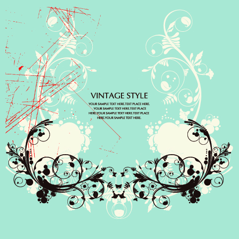 free vector Gorgeous retro patterns vector
