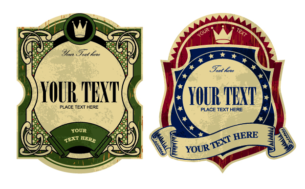 free vector Gorgeous retro vector bottle affixed