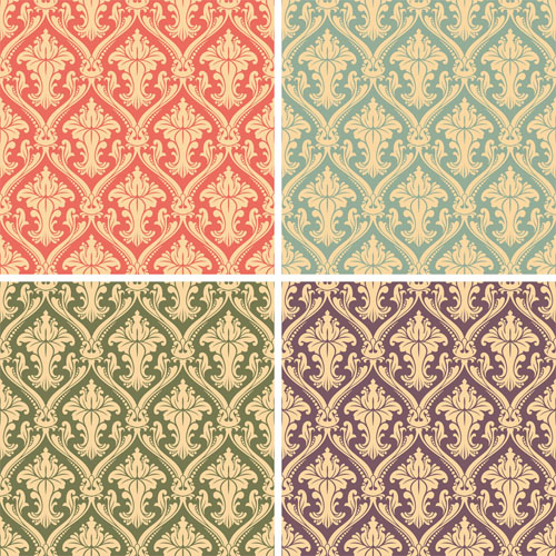 free vector Gorgeous shading pattern 01 vector