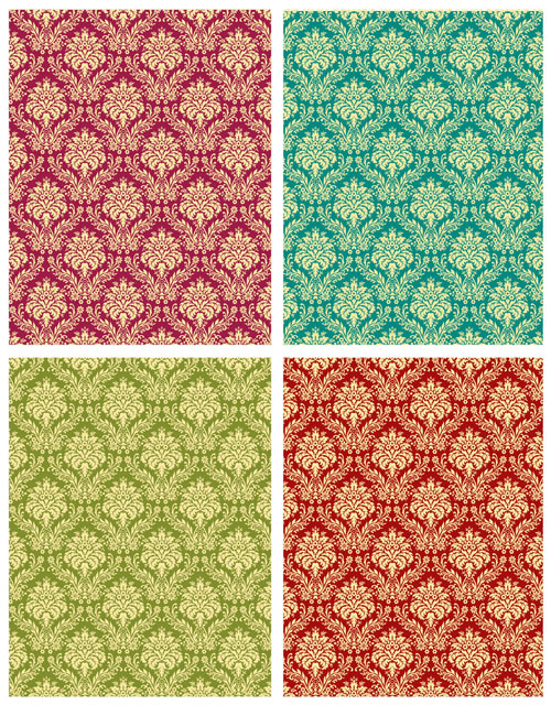 free vector Gorgeous shading pattern 02 vector