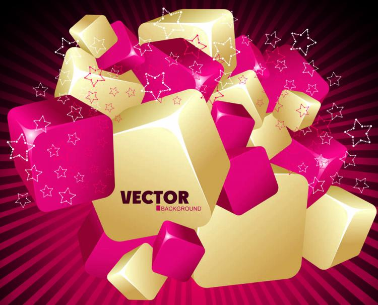 free vector Gorgeous threedimensional dynamic background 01 vector