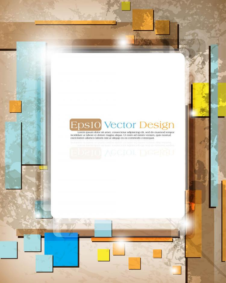 free vector Gorgeous threedimensional dynamic background 02 vector