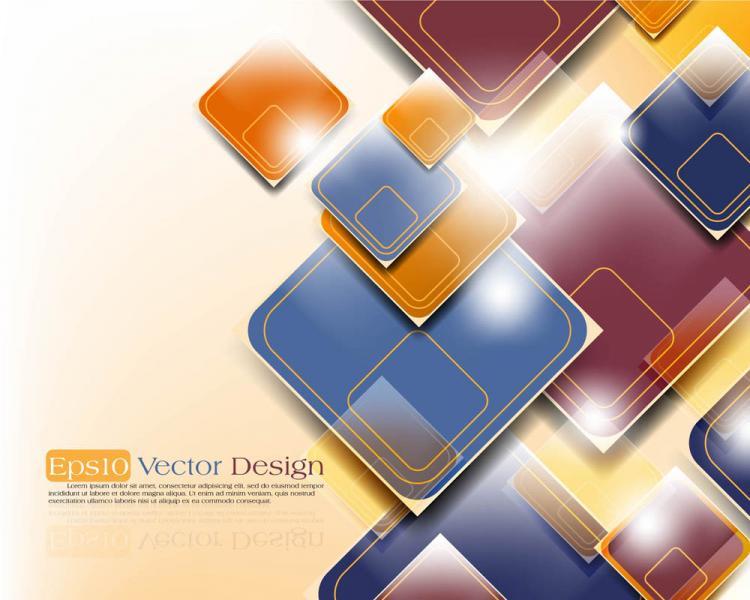 free vector Gorgeous threedimensional dynamic background 03 vector