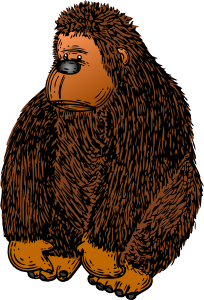free vector Gorilla With Colour clip art
