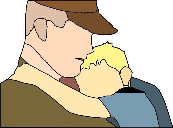 free vector Gowing Away Hug clip art