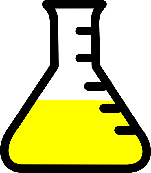 free vector Graded Flask clip art