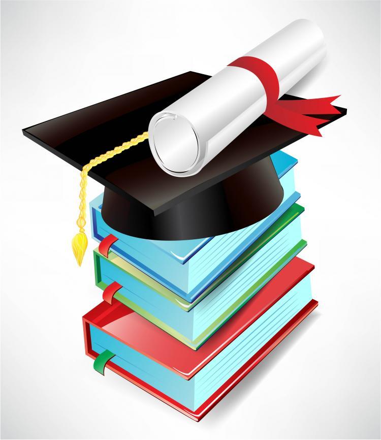 Graduation Book Cover Design ~ Graduation cap and diploma vector free