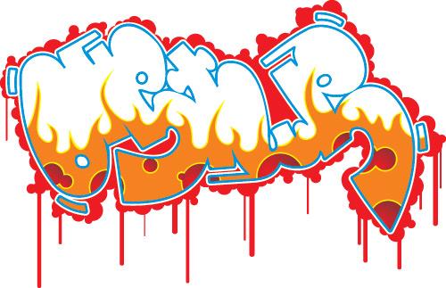 free vector Graffiti fonts vector