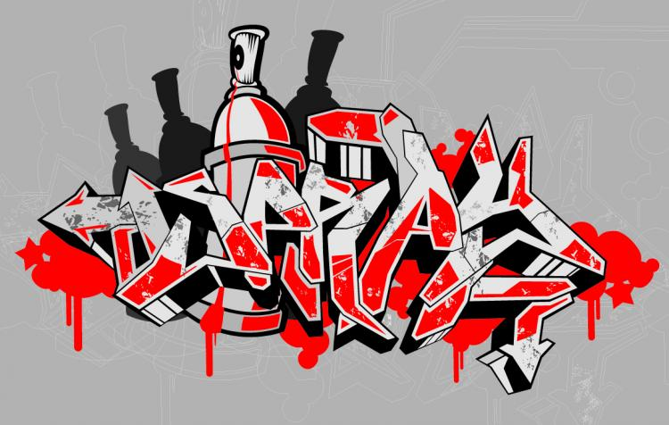 free vector Graffiti fonts vector