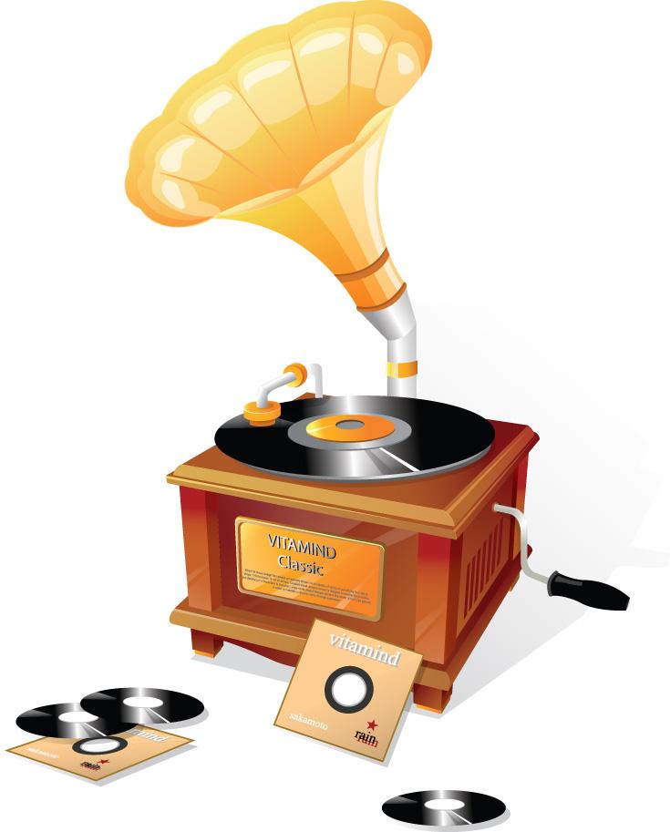 free vector Gramophone classical vector