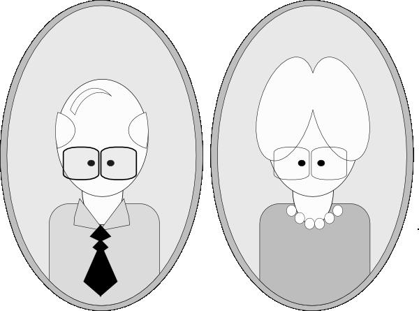 free vector Grandpa And Grandma clip art