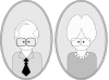 free vector Grandpa And Grandma clip art