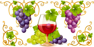 free vector Grape and wine vector