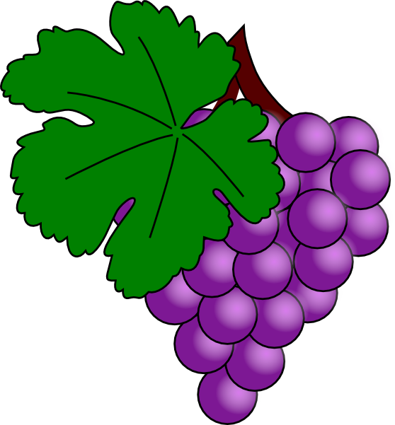 grape with vine leaf clip art free vector 4vector rh 4vector com grace clip art free graph clip art