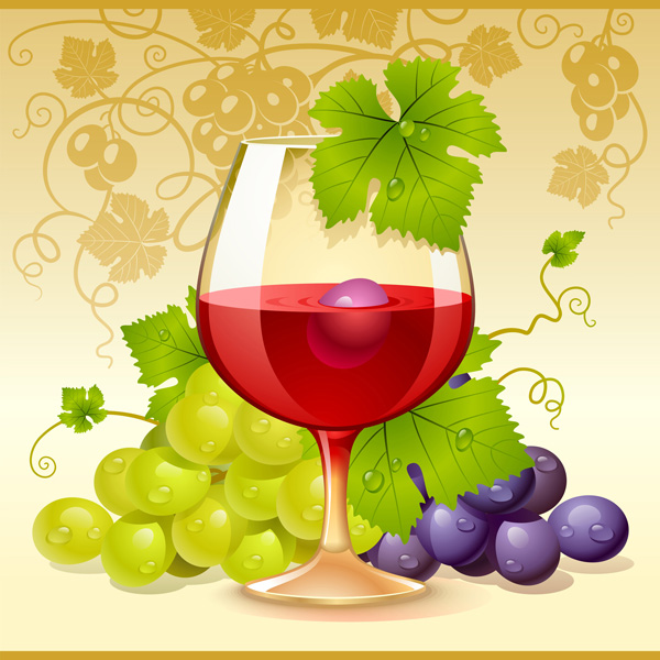 free vector Grapes vector