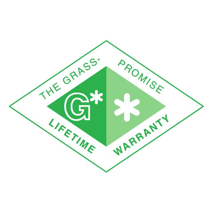 free vector Grass promise lifetime warranty