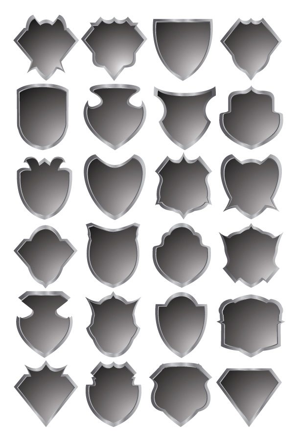 free vector Gray badge template vector
