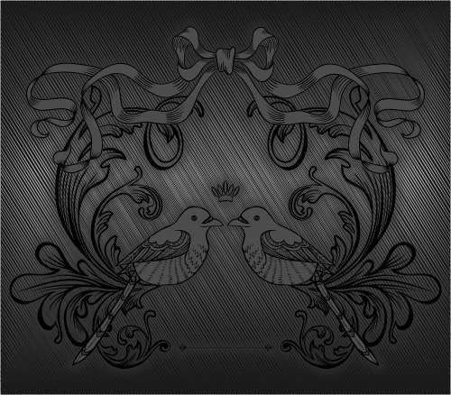 free vector Gray drawing pattern vector
