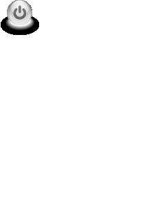 free vector Gray Power Button clip art