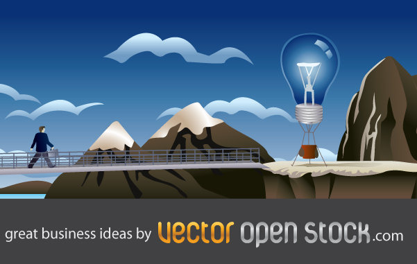 free vector Great business ideas