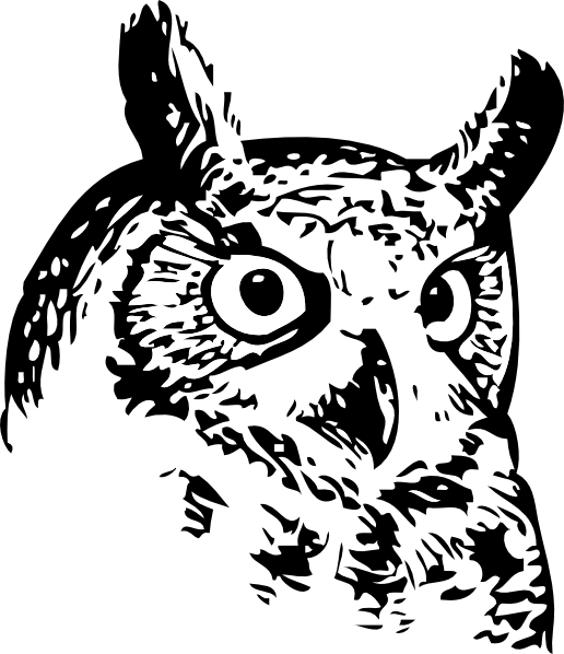 free vector Great Owl clip art