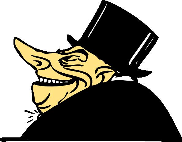 free vector Greedy Man clip art