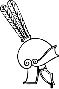 free vector Greek Helmet clip art