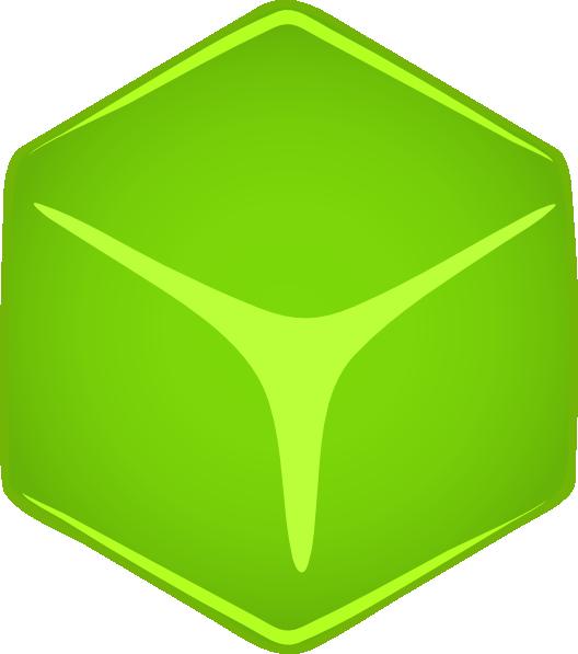 free vector Green 3d Cube clip art