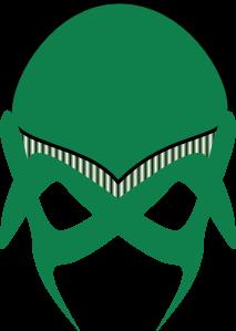 free vector Green Alien Mask clip art
