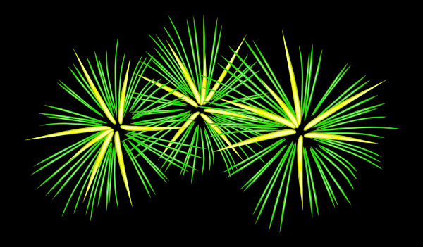 free vector Green And Yellow Fireworks clip art