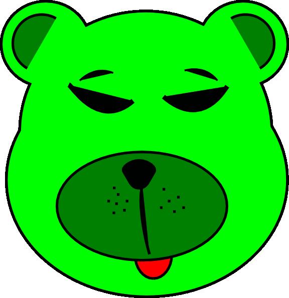 free vector Green Bear clip art