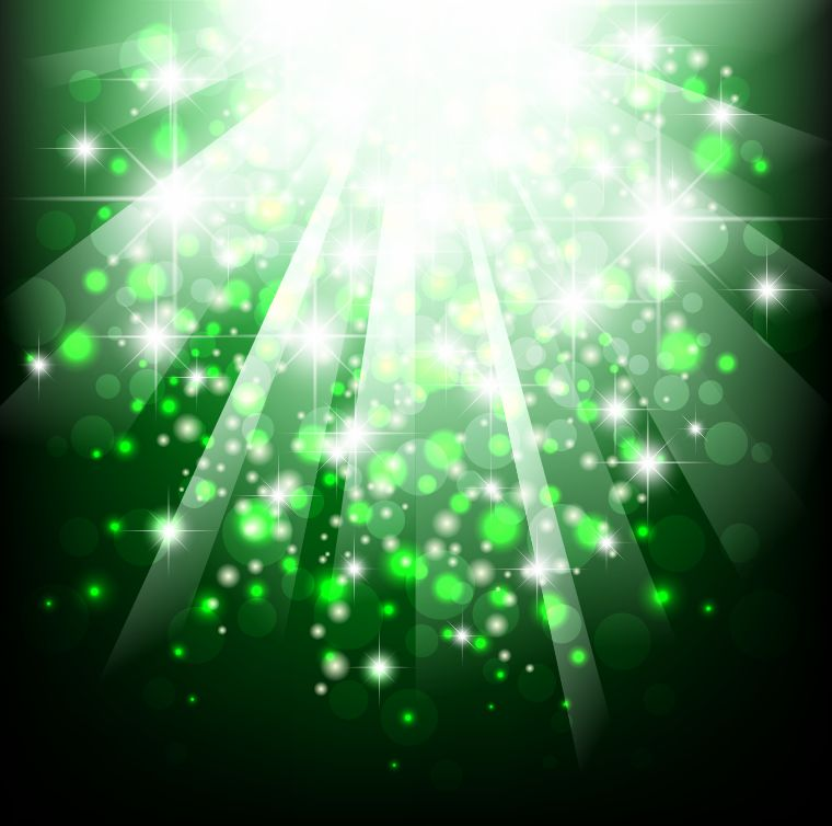 free vector Green Bokeh Abstract Light Background Vector Illustration