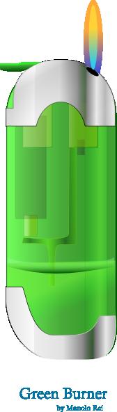 free vector Green_burner clip art