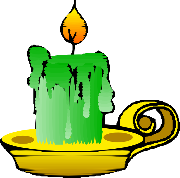 free vector Green Candle clip art