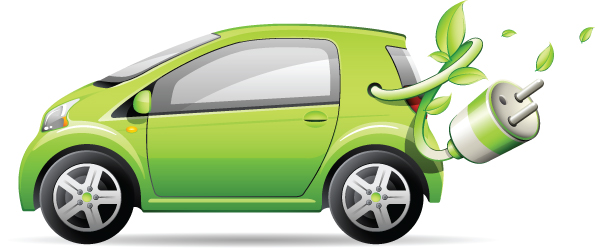 free vector Green Car Vector