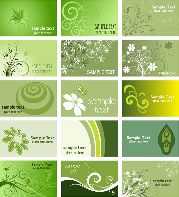 free vector Green card background vector