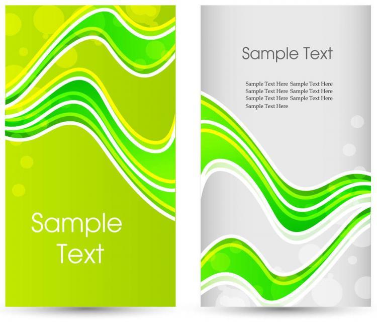 free vector Green card template 01 vector