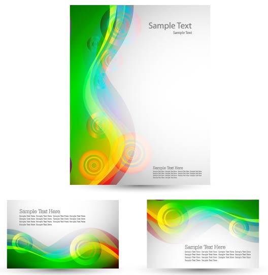 free vector Green card template 03 vector