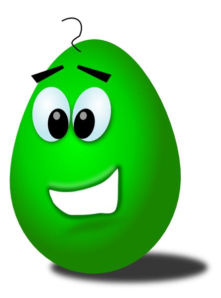 free vector Green Comic Egg clip art