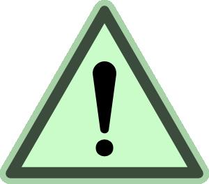 free vector Green Danger clip art