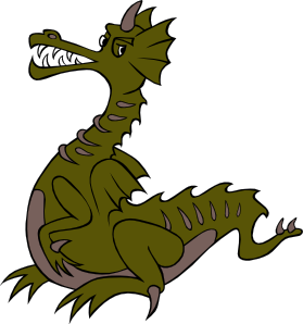 free vector Green Dragon clip art