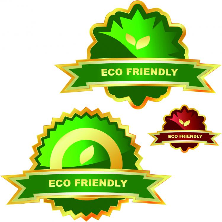 free vector Green ecolabel vector