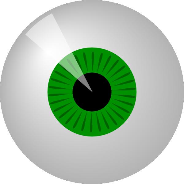 free vector Green Eye clip art