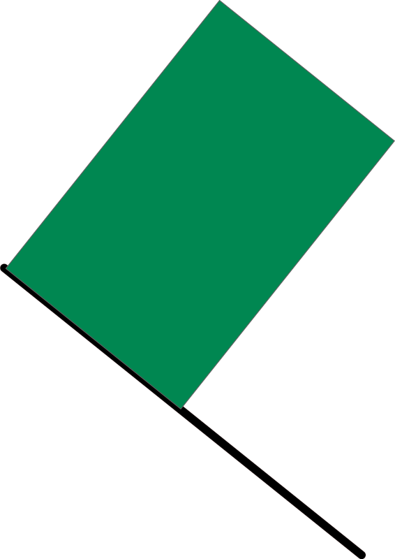 free vector Green flag