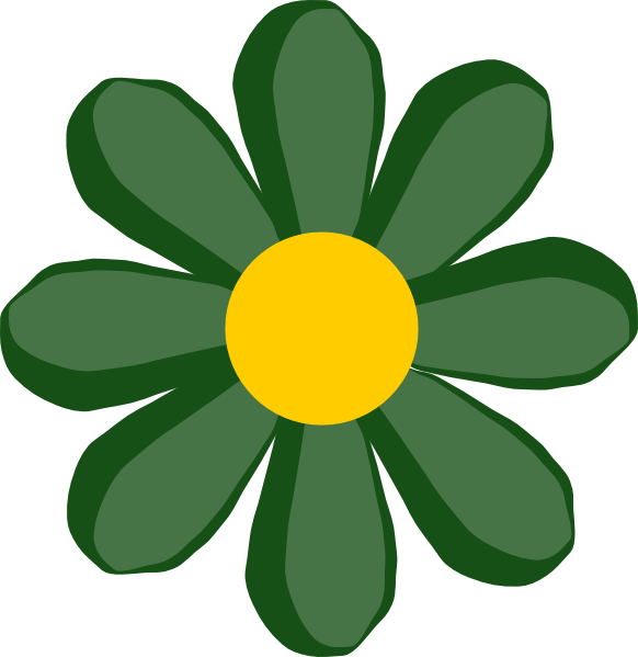 free vector Green Flower clip art